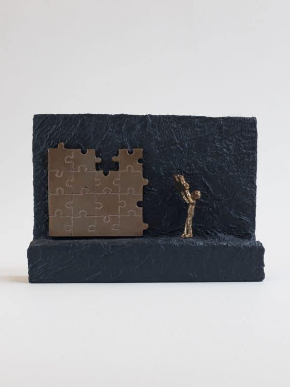 STREBER MOT TOPPEN – ekte bronse