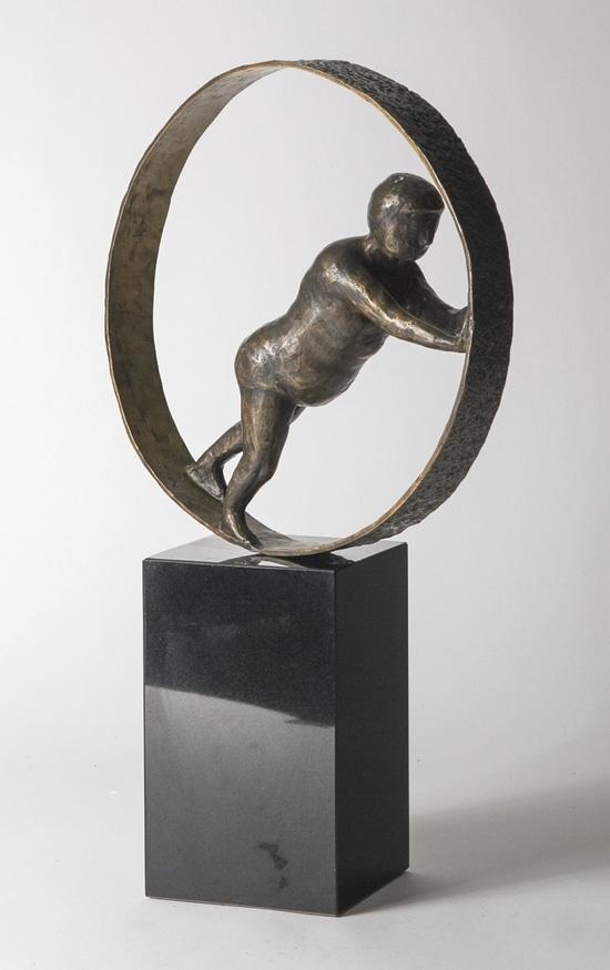 HOLDE HJULENE I GANG – ekte bronse