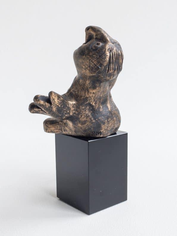 DEN NYSGJERRIGE – bronse patinert