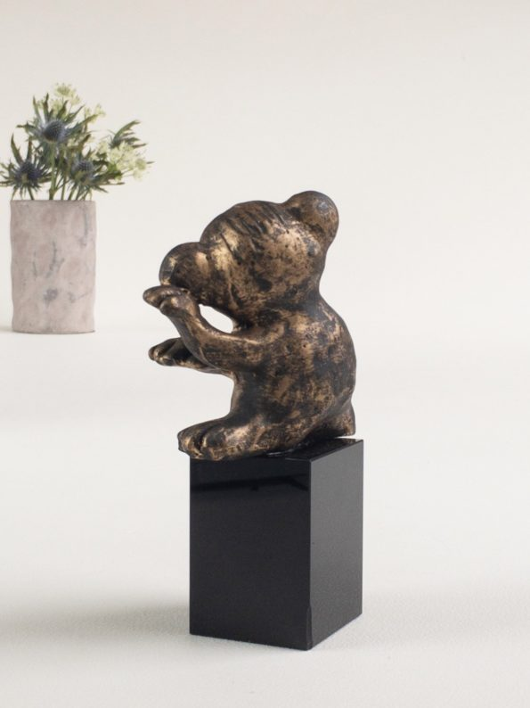 Den flittige – bronse patinert