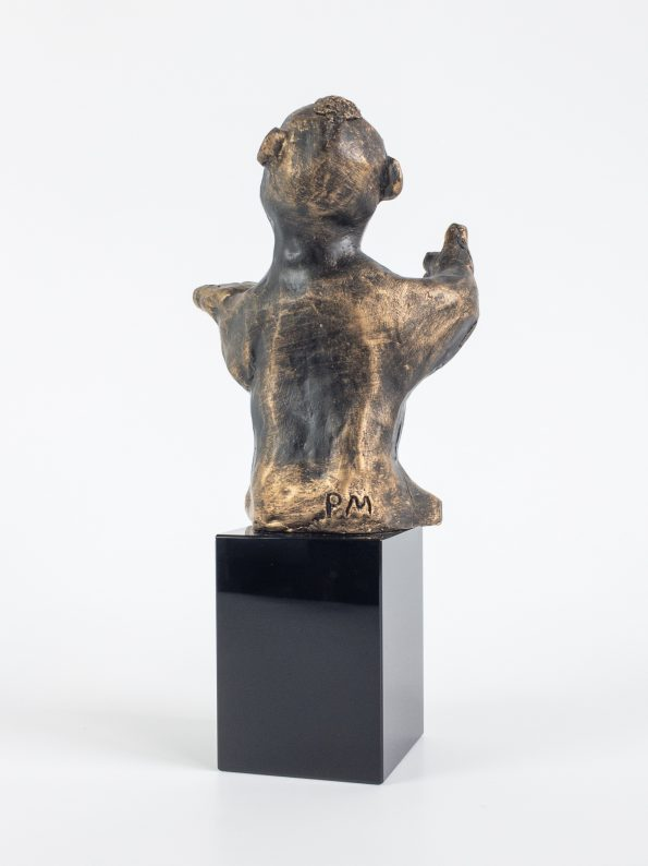 DEN DYKTIGE – bronse patinert