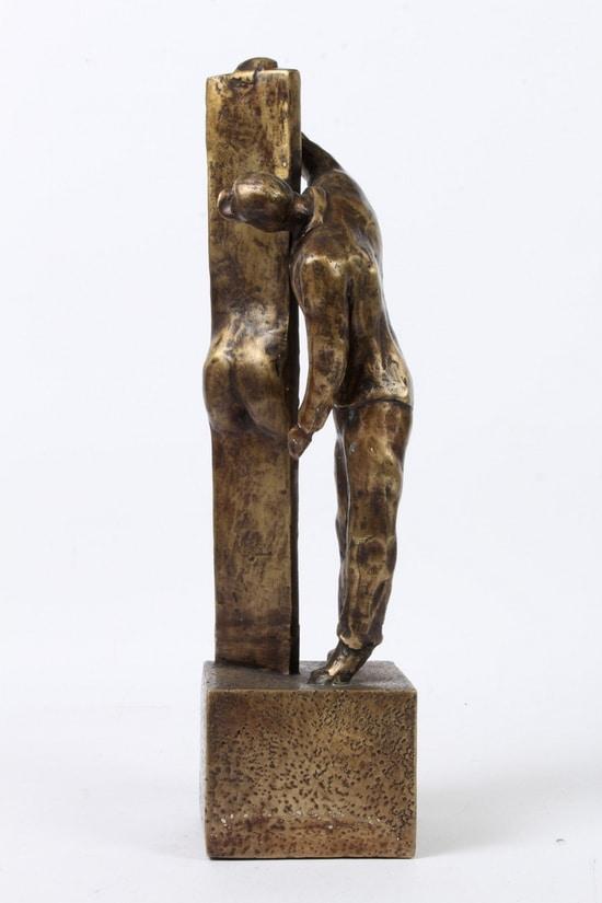 SAKEN SETT FRA 2 SIDER – ekte bronse. Stor utgave