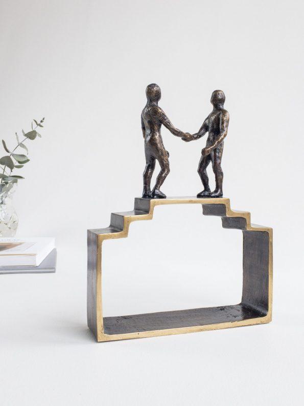 SAMARBEJDE - ægte bronze