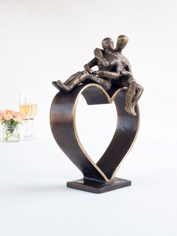 HJERTER MØTES – ekte bronse