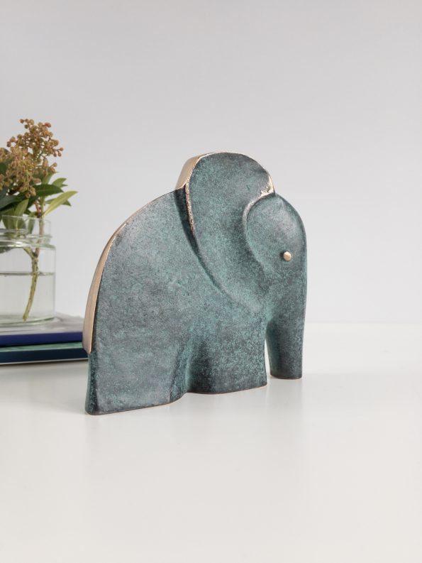 ELEFANT - STYRKE OG VIDDOM - ekte bronse