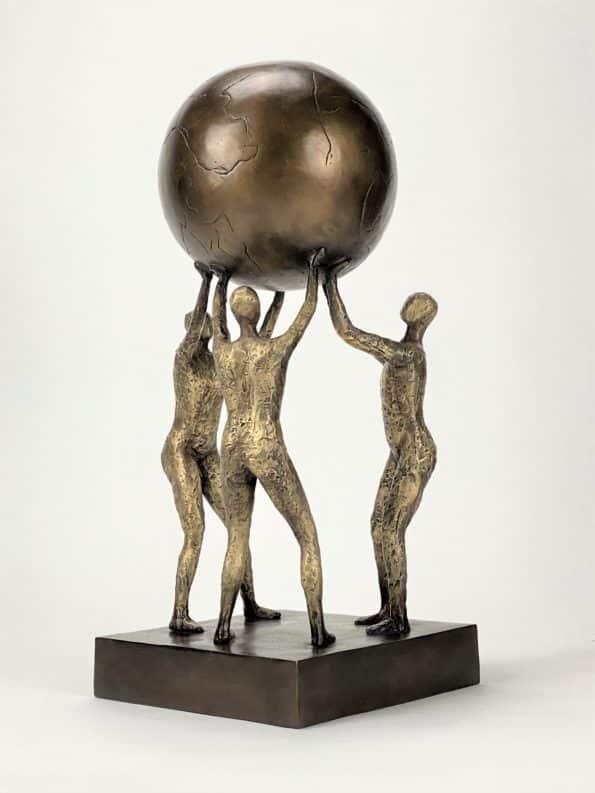 Løfter i flokk - ekte bronse